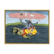 Varaha Incarnation Of Lord Vishnu - Watercolour On Paper