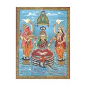 Jain Form Of Lakshmi - Watercolour On Paper