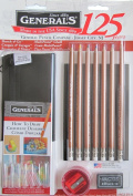GENERAL'S Sketch & Go MULTI PASTEL CHALK Travel ART KIT DRAWING Set w 7 Multi-PASTEL CHALK ART PENCILS, Pencil BAG, DRAWING JOURNAL & More
