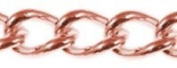 Antique Copper Metal Curbed Link Chain, 2.5 Links Per Inch, 7.6m