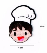Boy Chef Embroidered Iron on Patches for Kids