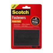 Scotch(R) Heavy-Duty Fasteners, 2 Sets of 2.5cm x 7.6cm , Strips ,Black