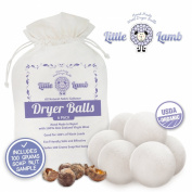 6 Pack of Wool Dryer Balls with FREE Soap Nuts - 100% Premium Organic Felt Wool Dryer Balls (XL, Handmade, Eco-friendly, Baby Safe Fabric Softener, All - Natural Laundry Fabric Softener) with 100% Natural Cloth Nappy Laundry Detergent - Perfect For Ba ..