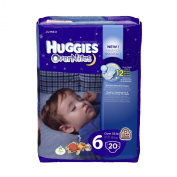 Huggies Overnite Nappies, Size 6, Jumbo, 20 ct