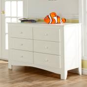Pali Design Pali Designs Bolzano Double Dresser, White, Birch Veneers