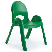 Angeles Home Daycare Preschool Classroom 33cm Value Stack Chair Shamrock Green