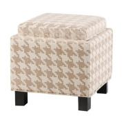 """Madison Park Shelley Square Storage Ottoman With Pillows - Linen - 18x 46cm x 18""""/41cm x 41cm"""