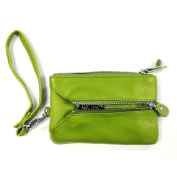 Wrapables® Colourful Genuine Leather Wristlet Wallet - Green