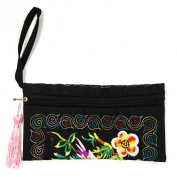 Wrapables® Ethnic Embroidered Wristlet Clutch Purse
