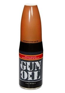 Gun Oil Silicone Based Personal Lubricant (Slick Silicone Formula) : Size 2 Oz /59 Ml