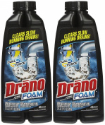 Drano Dual Force Foamer Clog Remover, 500ml-2 pk