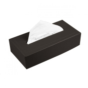 Lucrin - Rectangular Tissue Box Holder - Brown - Smooth Calfskin - Leather