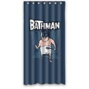 90cm x 180cm Inches (Small) Cute The BATHMAN Bath Curtain 100% Waterproof Polyester Fabric Fitted Bathroom Shower Curtain