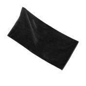 Terry Cotton Beach Towel, Solid Black Colour