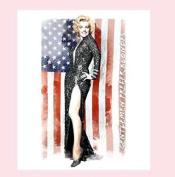 Marilyn Monroe Gentleman Prefer Blondes Queen Size Luxury Royal Plush Blanket - USA Flag