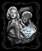 Marilyn Monroe Diamonds are Forever Queen Size Luxury Royal Plush Blanket 200cm x 240cm