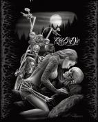 Ride or Die Motorcycle Biker Lovers Queen Size Luxury Royal Plush Blanket 200cm x 240cm