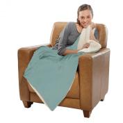 Micro Mink Sherpa Lined Blanket, Throw, 1090ml/Each, 130cm X 150cm , SAGE Colour