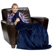 Tahoe Microfleece Blankets, Throws, 710ml/Each, 130cm X 180cm , NAVY BLUE