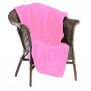 Tahoe Micro fleece Blankets, Throws, 710ml/Each, 130cm X 180cm , Light Pink