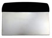 New Star Foodservice 36091 Plastic Handle Dough Scraper, 15cm by 7.6cm , Black
