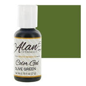 Olive Green Premium Food Colour Gel, 90ml by Chef Alan Tetreault