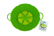 Southern Homewares SH-10081 Boil Buddies Silicone Boil Over Spill Stopper Splatter Guard Pot Pan Lid Cover, 25cm , Green