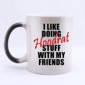"100% Ceramic Funny "" I LIKE DOING Hoodrat STUFF WITH MY FRIENDS "" Morphing Mug 330mls Heat Sensitive Colour Changing Custom Coffee/Tea Mug Great Gift Idea For Friends"
