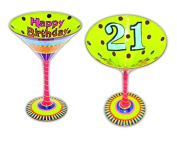 "Young's Inky and Bozko Martini ""Happy Birthday 50cm Glass"