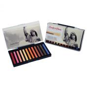 Conté à Paris Coloured Crayons Set with 12 Assorted Portrait Colours