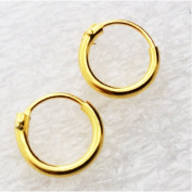 Ultra Small HOOP Earrings, 18K gold over silver,8mm, endless hoops,nose,cartilage,ears,lips