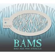 Bad Ass Small Zebra Mini Stencil BAM3009
