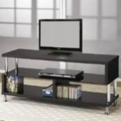 Coaster Furniture 700652 Contemporary Media Console with Glass and Chrome Accents 700652