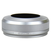 JJC LH-JX100II SILVER Upgrade Lens Hood Shade Adapter Ring for Fujifilm FinePix X100 X100S Replaces AR-X100 Silver