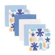 Luvable Friends Washcloths, Blue Octopus
