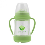 green sprouts Glass Sip 'n Straw Cup, Light Lime, 120ml