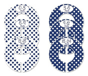 #C152 Navy Boy Baby Closet Dividers Clothes Organisers Set of 6 Polka Dots