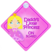 DLP016 Daddy's Little Princess On Board Car Sign New Baby / Child Gift / Present / Baby Shower Surprise