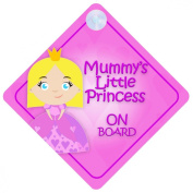 MLP016 Mummy's Little Princess On Board Car Sign New Baby / Child Gift / Present / Baby Shower Surprise