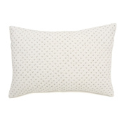 Auggie Quilted Decorative Pillow Cover, Cross Stitch/Grey