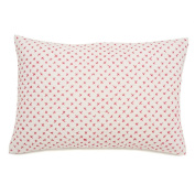 Auggie Quilted Decorative Pillow Cover, Cross Stitch/Pink