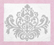 Pink, Grey and White Elizabeth Accent Floor Rug by Sweet Jojo Designs
