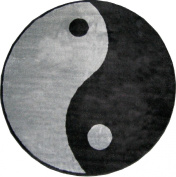 Fun Rugs FTS-152 51RD Ying Yang Accent Rug, 80cm by 80cm