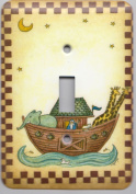 Noah's Ark Metal Single Toggle Switch Plate Cover