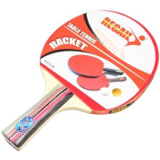 Docooler Long Handle Shake-hand Table Tennis Racket Ping Pong Paddle + Waterproof Bag Pouch Blue