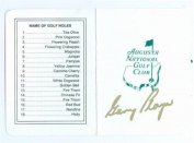 Gary Player autographed Golf Scorecard (Augusta National Golf Club The Masters SC) - Autographed Golf Equipment