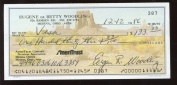 Gene Woodling Signed Personal Cheque
