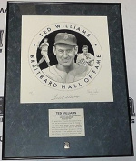 Ted Williams Signed San Diego Breitbard Hall of Fame Lithograph Red Sox - PSA/DNA Certified - Autographed MLB Art