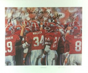 """1980's Georgia Bulldogs Multi-Signed 21x25 Noah Stokes """"Glory Days"""" Limited Edition of 1000 Print with 5 Signatures"""
