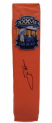 Jon Gruden Autographed / Signed Full Size Logo Football End Zone Pylon, Super Bowl XXXVII Champions Tampa Bay Buccaneers, Proof Photo